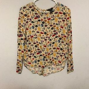 H&m long sleeve patterned top